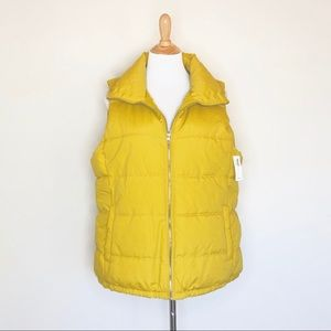 NWT Old Navy Mustard Yellow Puffer Vest
